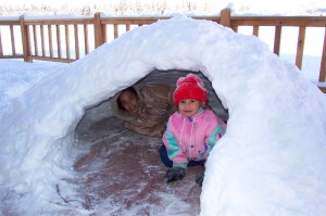 Nothing like a snow day to help those primal warrior-like defense mechanisms kick in for some fort-building