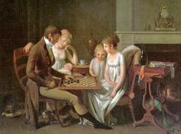 old-family-playing-board-game