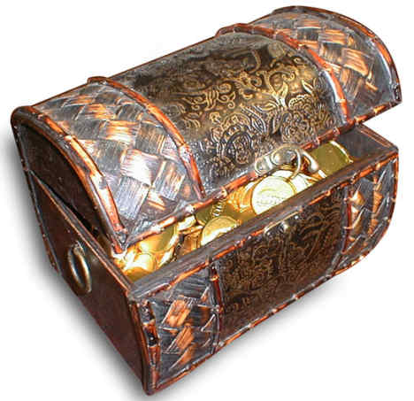 treasure chest full