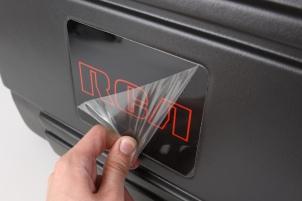 peeling plastic off electronics