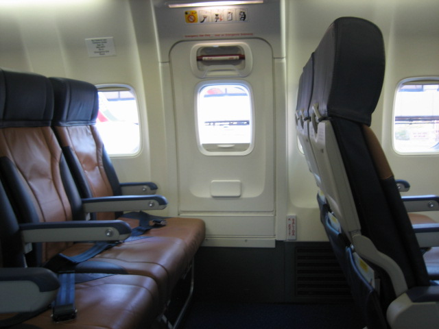 Emergency exit plane seats