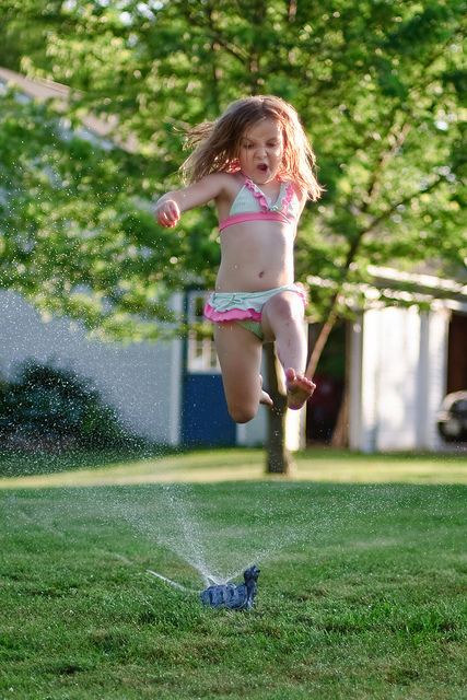 325 jumping through the sprinkler in your bathing suit 1000 awesome